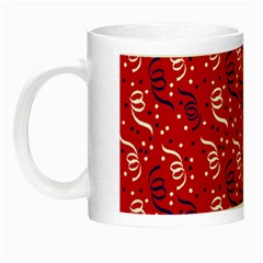 Red White And Blue Usa/uk/france Colored Party Streamers Night Luminous Mugs by PodArtist