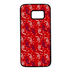 Red White And Blue Usa/uk/france Colored Party Streamers Samsung Galaxy S7 Black Seamless Case by PodArtist