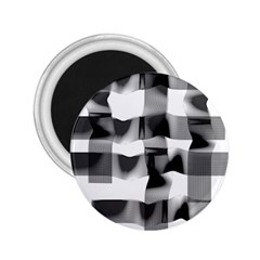 Geometry Square Black And White 2 25  Magnets by Sapixe