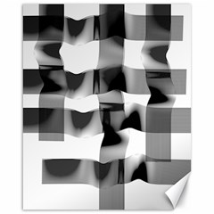 Geometry Square Black And White Canvas 16  X 20