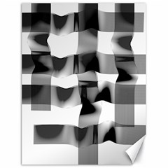 Geometry Square Black And White Canvas 18  X 24
