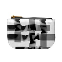 Geometry Square Black And White Mini Coin Purses by Sapixe