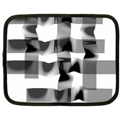 Geometry Square Black And White Netbook Case (xxl)  by Sapixe