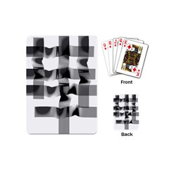 Geometry Square Black And White Playing Cards (mini)  by Sapixe