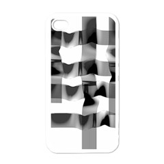 Geometry Square Black And White Apple Iphone 4 Case (white) by Sapixe