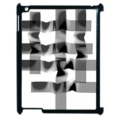 Geometry Square Black And White Apple Ipad 2 Case (black) by Sapixe