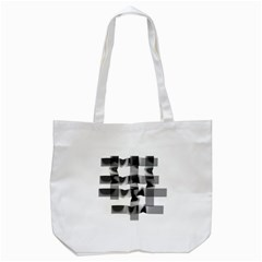 Geometry Square Black And White Tote Bag (white) by Sapixe