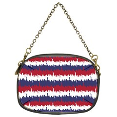 244776512ny Usa Skyline In Red White & Blue Stripes Nyc New York Manhattan Skyline Silhouette Chain Purses (one Side)  by PodArtist
