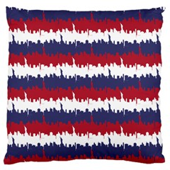 244776512ny Usa Skyline In Red White & Blue Stripes Nyc New York Manhattan Skyline Silhouette Large Cushion Case (two Sides) by PodArtist