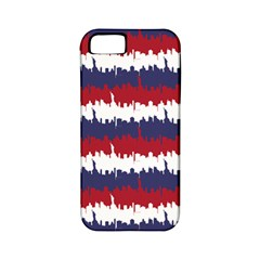 244776512ny Usa Skyline In Red White & Blue Stripes Nyc New York Manhattan Skyline Silhouette Apple Iphone 5 Classic Hardshell Case (pc+silicone) by PodArtist