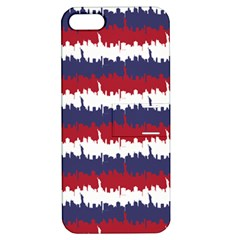 244776512ny Usa Skyline In Red White & Blue Stripes Nyc New York Manhattan Skyline Silhouette Apple Iphone 5 Hardshell Case With Stand by PodArtist