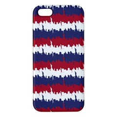 244776512ny Usa Skyline In Red White & Blue Stripes Nyc New York Manhattan Skyline Silhouette Apple Iphone 5 Premium Hardshell Case by PodArtist