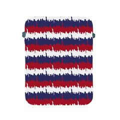 244776512ny Usa Skyline In Red White & Blue Stripes Nyc New York Manhattan Skyline Silhouette Apple Ipad 2/3/4 Protective Soft Cases by PodArtist