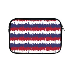 244776512ny Usa Skyline In Red White & Blue Stripes Nyc New York Manhattan Skyline Silhouette Apple Ipad Mini Zipper Cases by PodArtist