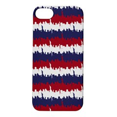 244776512ny Usa Skyline In Red White & Blue Stripes Nyc New York Manhattan Skyline Silhouette Apple Iphone 5s/ Se Hardshell Case by PodArtist