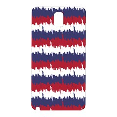 244776512ny Usa Skyline In Red White & Blue Stripes Nyc New York Manhattan Skyline Silhouette Samsung Galaxy Note 3 N9005 Hardshell Back Case by PodArtist