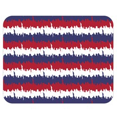 244776512ny Usa Skyline In Red White & Blue Stripes Nyc New York Manhattan Skyline Silhouette Double Sided Flano Blanket (medium)  by PodArtist