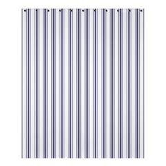Mattress Ticking Wide Striped Pattern In Usa Flag Blue And White Shower Curtain 60  X 72  (medium)  by PodArtist