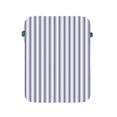 Mattress Ticking Wide Striped Pattern In Usa Flag Blue And White Apple Ipad 2/3/4 Protective Soft Cases by PodArtist