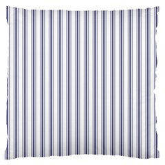 Mattress Ticking Wide Striped Pattern In Usa Flag Blue And White Standard Flano Cushion Case (two Sides)