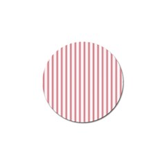 Mattress Ticking Wide Striped Pattern In Usa Flag Red And White Golf Ball Marker (10 Pack) by PodArtist