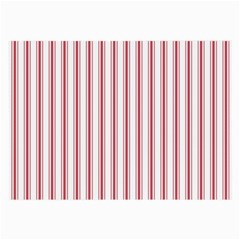 Mattress Ticking Wide Striped Pattern In Usa Flag Red And White Large Glasses Cloth (2 Side) by PodArtist