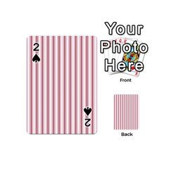 Mattress Ticking Wide Striped Pattern In Usa Flag Red And White Playing Cards 54 (mini)  by PodArtist