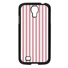 Mattress Ticking Wide Striped Pattern In Usa Flag Red And White Samsung Galaxy S4 I9500/ I9505 Case (black) by PodArtist