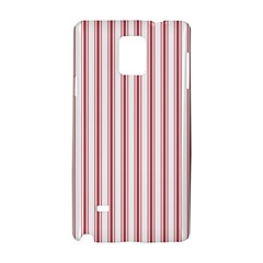 Mattress Ticking Wide Striped Pattern In Usa Flag Red And White Samsung Galaxy Note 4 Hardshell Case by PodArtist