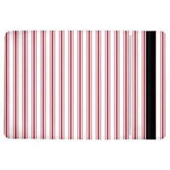 Mattress Ticking Wide Striped Pattern In Usa Flag Red And White Ipad Air 2 Flip
