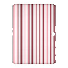 Mattress Ticking Wide Striped Pattern In Usa Flag Red And White Samsung Galaxy Tab 4 (10 1 ) Hardshell Case  by PodArtist