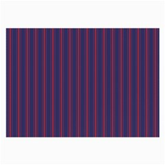 Mattress Ticking Wide Striped Pattern In Usa Flag Blue And Red Large Glasses Cloth (2 Side) by PodArtist