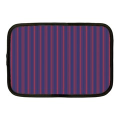 Mattress Ticking Wide Striped Pattern In Usa Flag Blue And Red Netbook Case (medium)  by PodArtist