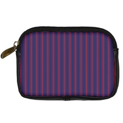Mattress Ticking Wide Striped Pattern In Usa Flag Blue And Red Digital Camera Cases by PodArtist