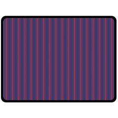 Mattress Ticking Wide Striped Pattern In Usa Flag Blue And Red Double Sided Fleece Blanket (large)  by PodArtist