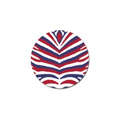 Us United States Red White And Blue American Zebra Strip Golf Ball Marker by PodArtist