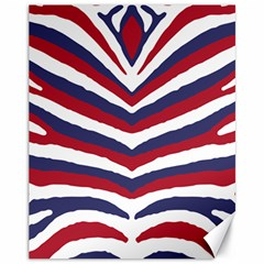 Us United States Red White And Blue American Zebra Strip Canvas 11  X 14   by PodArtist