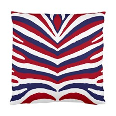 Us United States Red White And Blue American Zebra Strip Standard Cushion Case (two Sides) by PodArtist