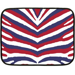 Us United States Red White And Blue American Zebra Strip Fleece Blanket (mini) by PodArtist