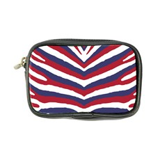 Us United States Red White And Blue American Zebra Strip Coin Purse by PodArtist