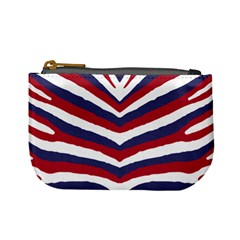 Us United States Red White And Blue American Zebra Strip Mini Coin Purses by PodArtist