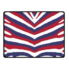 Us United States Red White And Blue American Zebra Strip Fleece Blanket (small) by PodArtist