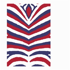 Us United States Red White And Blue American Zebra Strip Small Garden Flag (two Sides) by PodArtist