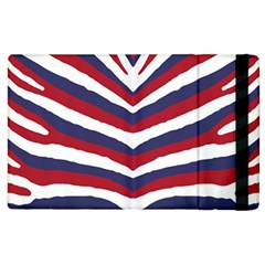Us United States Red White And Blue American Zebra Strip Apple Ipad 3/4 Flip Case by PodArtist