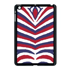 Us United States Red White And Blue American Zebra Strip Apple Ipad Mini Case (black) by PodArtist