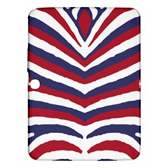 Us United States Red White And Blue American Zebra Strip Samsung Galaxy Tab 3 (10 1 ) P5200 Hardshell Case  by PodArtist