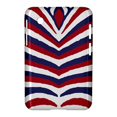 Us United States Red White And Blue American Zebra Strip Samsung Galaxy Tab 2 (7 ) P3100 Hardshell Case  by PodArtist