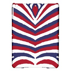 Us United States Red White And Blue American Zebra Strip Ipad Air Hardshell Cases by PodArtist