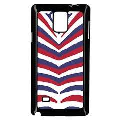 Us United States Red White And Blue American Zebra Strip Samsung Galaxy Note 4 Case (black) by PodArtist