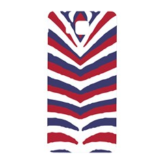 Us United States Red White And Blue American Zebra Strip Samsung Galaxy Alpha Hardshell Back Case by PodArtist